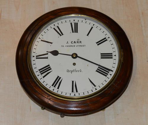 John Carr Deptford Fusee Dial Wall Clock (1 of 4)