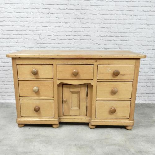 Antique Golden Pine Dresser Base (1 of 6)