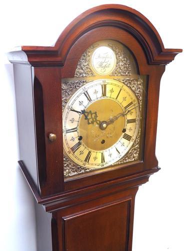 Grandmother Clock English Elliott Musical Longcase Clock with Dual Chimes c.1930 (1 of 16)