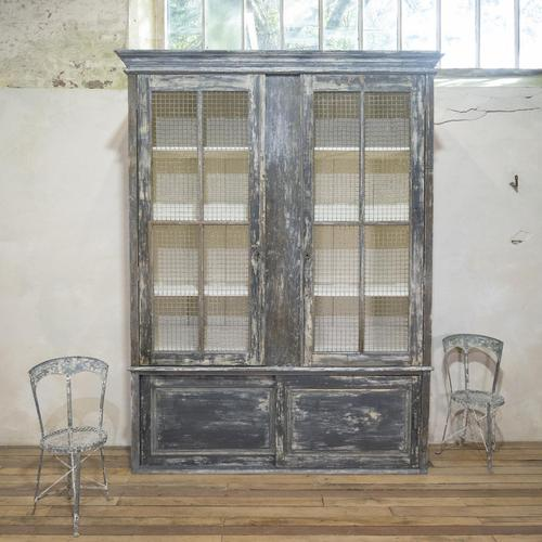 Large Scale 19th Century Painted Housekeepers Cupboard (1 of 17)