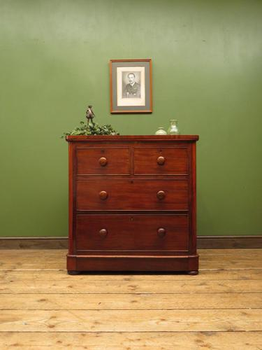 Handsome Small Antique Mahogany Chest of Drawers (1 of 20)