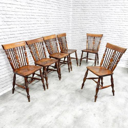 Set of 6 Windsor Dining Chairs (1 of 8)