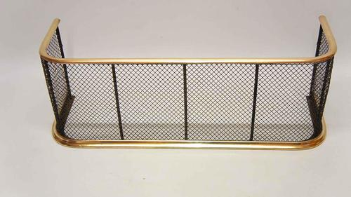 Early Victorian Brass & Wire Fire Guard / Fender (1 of 7)