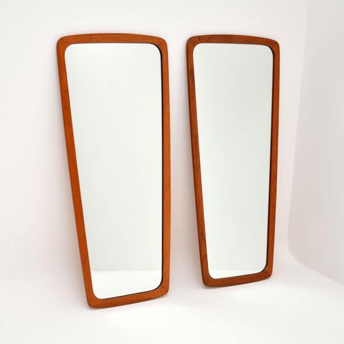 Pair of Danish Vintage Teak Mirrors (1 of 9)