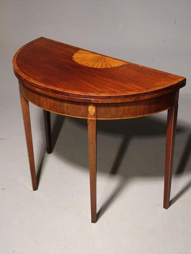 Good George III Period Mahogany Demilune Table (1 of 6)