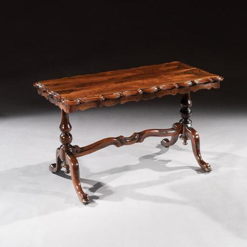Mid 19th Century Shaped Rosewood Coffee Table (1 of 9)