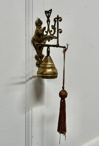 Brass Alpine Outdoor Bell with Hanging Bracket (1 of 4)