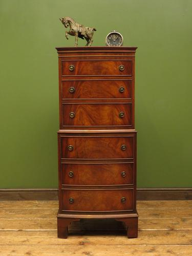 Narrow Antique Reproduction Reprodux Chest of Drawers by Bevan Funnell (1 of 14)