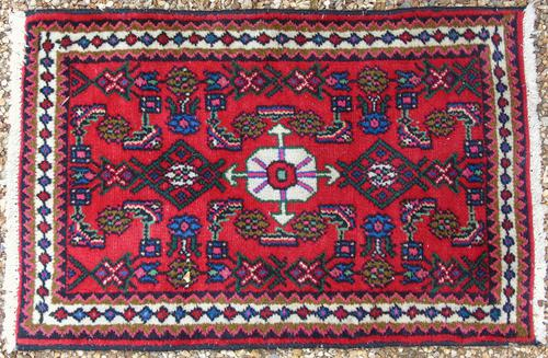 Small Hamadan Hand Woven Carpet (1 of 4)