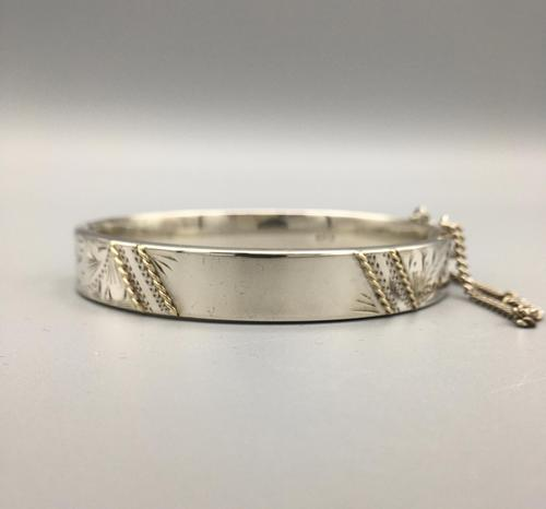 Vintage Silver Bangle London 1984 (1 of 9)