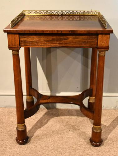 French Regency Rosewood Side Table (1 of 6)
