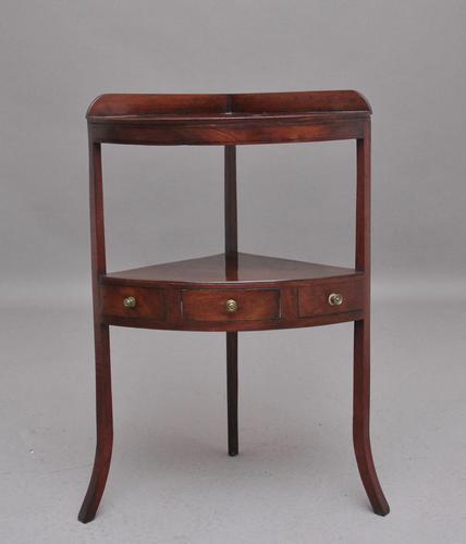 Early 19th Century Mahogany Corner Table (1 of 7)