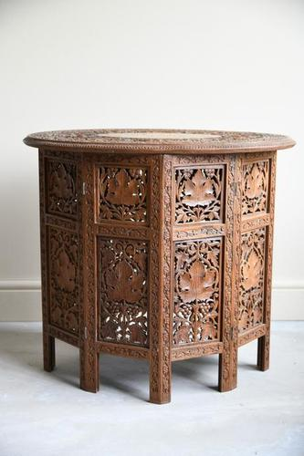 Carved Indian Side Table (1 of 12)