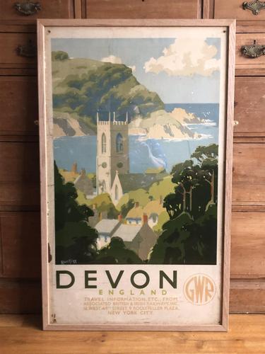 Devon Great Western Railway Poster by Alker Tripp 1930s (1 of 7)