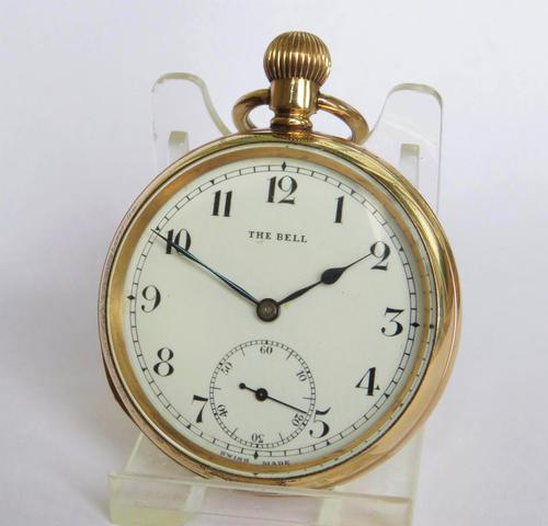 1940s 'The Bell' Pocket Watch by Quartier Fils (1 of 4)