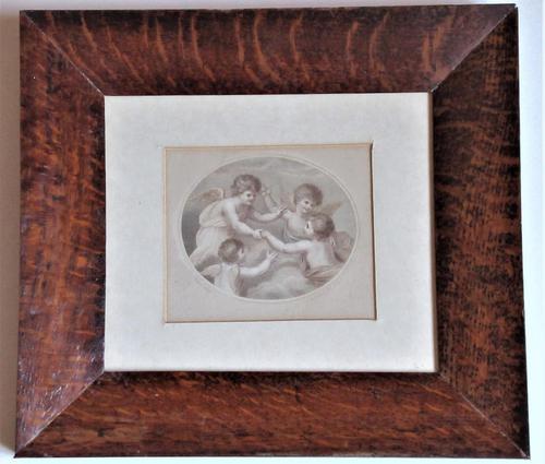 Francesco Bartolozzi 1791 Print after John Howes, 18th Century Colour Impression, Period Frame (1 of 6)