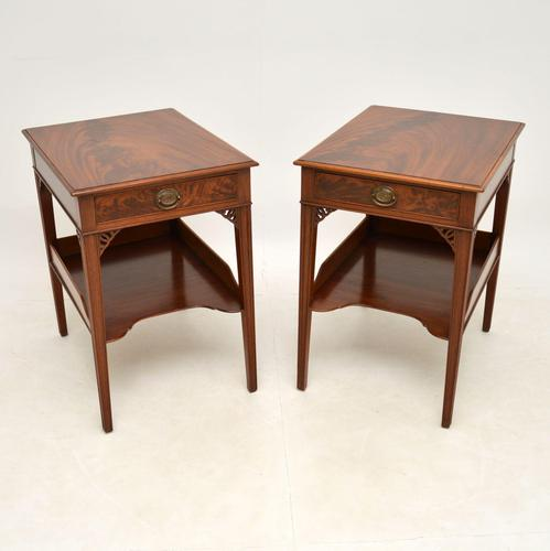 Pair of Antique Mahogany Side /  Bedside Tables (1 of 12)