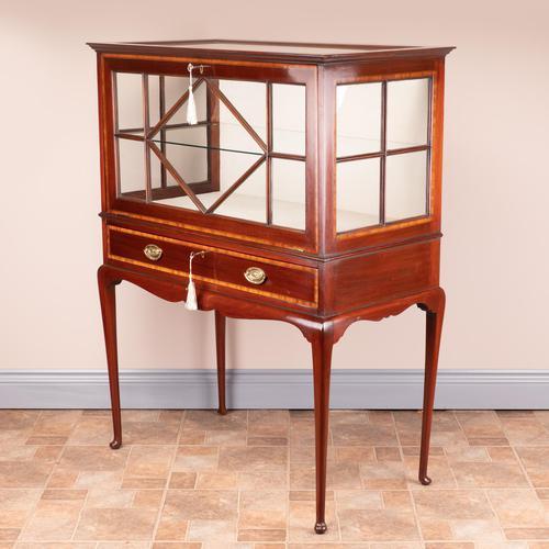 Inlaid Mahogany Display Cabinet (1 of 12)