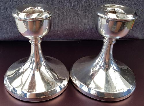Sterling Silver Candlesticks - Pair (1 of 3)