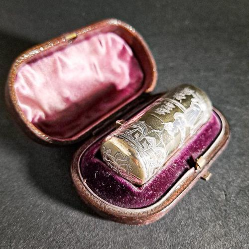 Silver Gilt Victorian Scent Bottle by Sampson Mordan (1 of 7)
