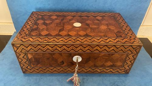 Victorian Inlaid Parquetry Rosewood Box (1 of 12)