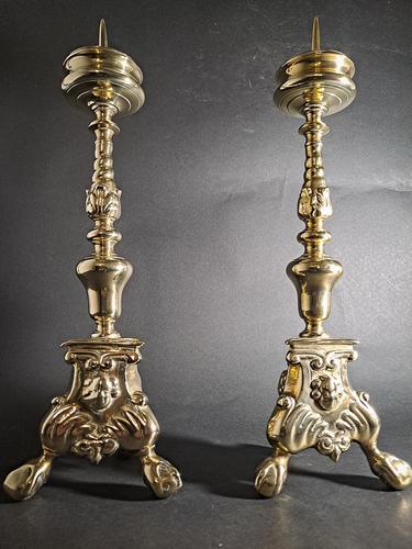 Victorian Baroque Pricket Candlesticks (1 of 4)