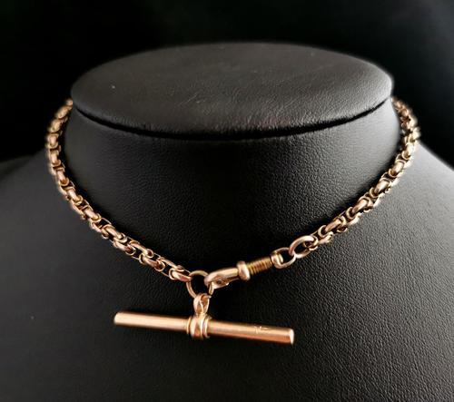 Antique 9ct Gold Watch Chain, Fancy Link, Albert Chain (1 of 9)