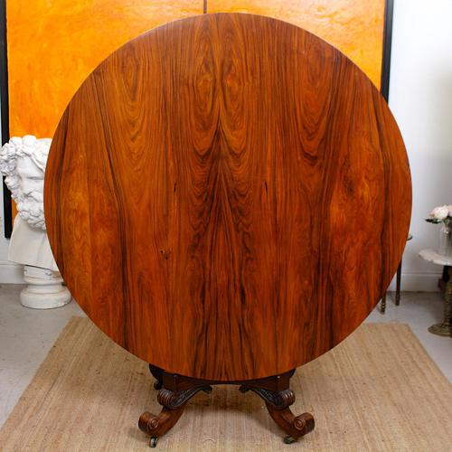 William IV Rosewood Breakfast Table Tilt Top Centre Dining Table (1 of 12)