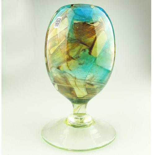 Unusual Retro Maltese Mdina Art Glass Vase Michael Harris Design c.1979 (1 of 4)