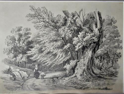 John Berney Ladbrooke Attributed, Norwich School 1853, Fine Large Sketch (1 of 5)