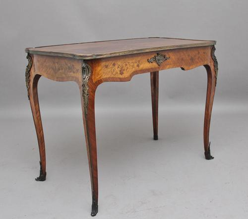 19th Century French Kingwood & Marquetry Centre Table (1 of 6)