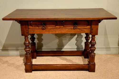 Early 18th Century Spanish Walnut Serving Side Table (1 of 7)