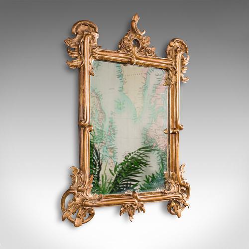 Small Antique Vanity Mirror, Italian, Giltwood, Dressing, Victorian c.1890 (1 of 10)
