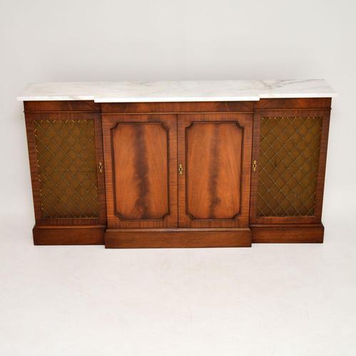 Georgian Style Mahogany Marble Top Sideboard c.1950 (1 of 9)