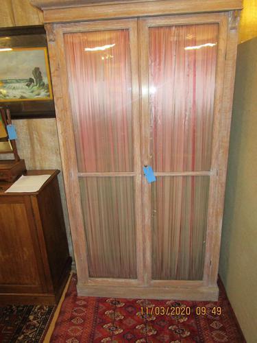 Victorian Limed Oak Glazed Bookcase (1 of 5)