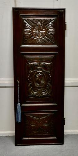 19th Century French Carved Oak Panel Door (1 of 6)