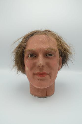 Antique Wax Mannequin Head (1 of 3)