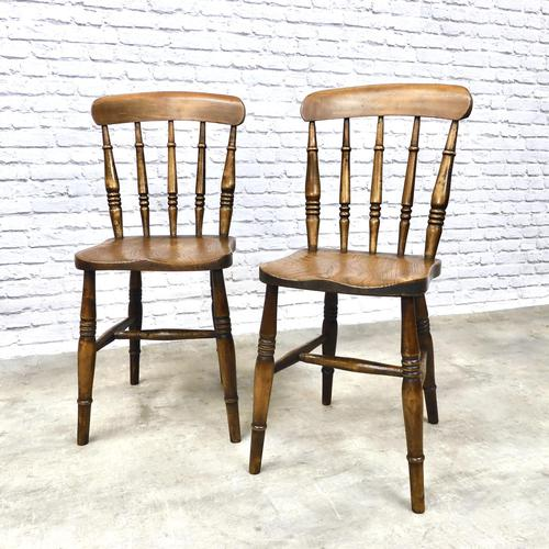 Pair of Antique Windsor Spindleback Chairs (1 of 6)