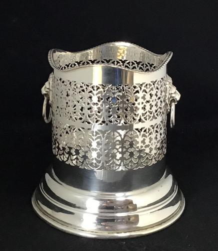 Vintage Silver Plated Two Handle Bottle Holder (1 of 6)