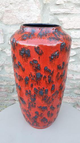 Vintage 1960s Fat Lava Floor Vase Europ Linie Scheurich Keramik WGP (1 of 3)