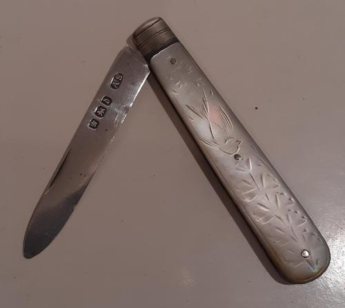 Silver Bladed Fruit Knife, Hallmarked 1896 (1 of 3)