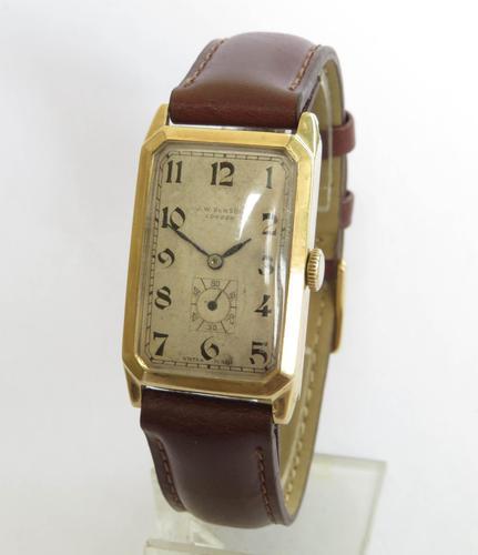Gents 9ct Gold Cyma Wrist Watch for J W Benson (1 of 5)
