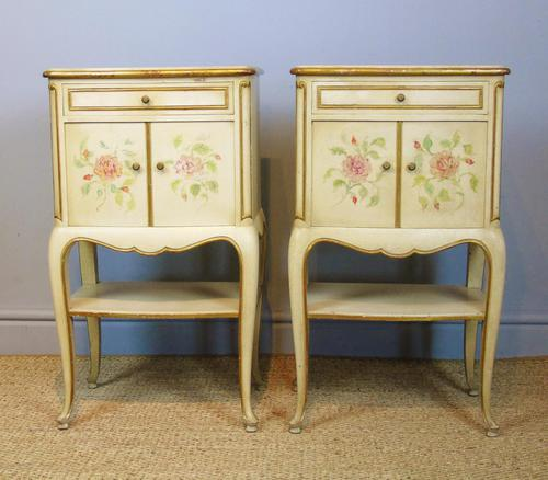 Pretty Pair of French Painted Bedside Cabinets (1 of 7)