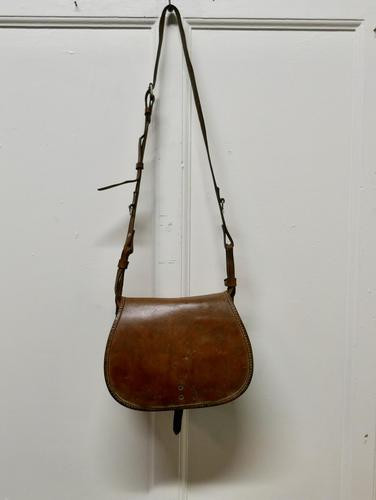 19th Century Leather Game Bag & Cartridge Case, Shooting, Hunting (1 of 5)