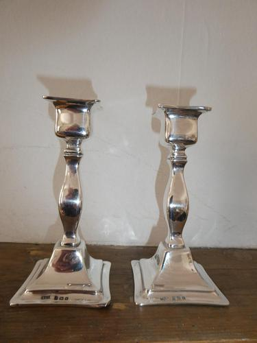 Pair of Silver Candlesticks 1918 (1 of 10)