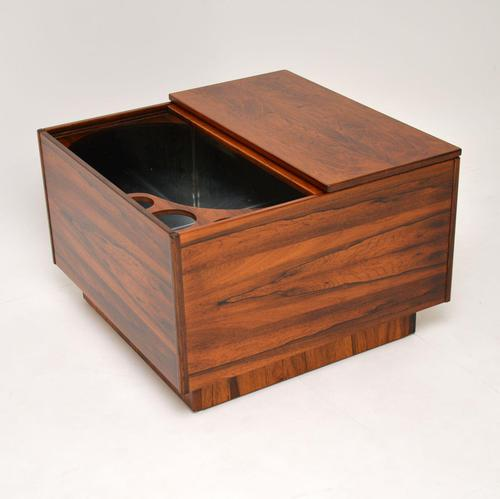 1960's Swedish Rosewood Drinks Cabinet / Coffee Table (1 of 13)