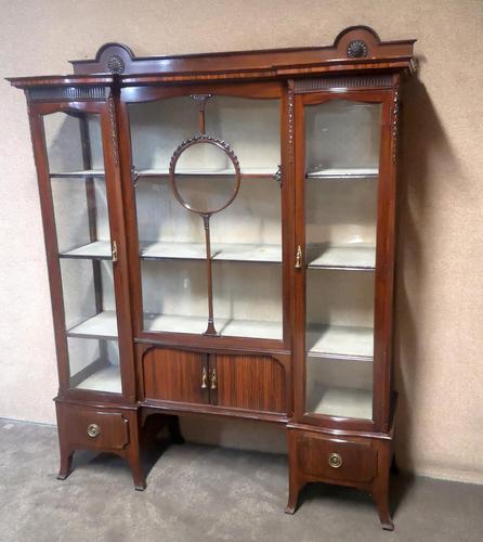 Edwardian Carved Mahogany Display Cabinet / China Cabinet (1 of 13)
