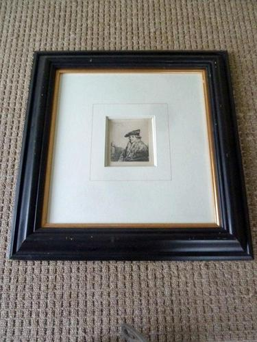 "Rembrandt Van Rijn Etching ""Young Man in Velvet Cap "" 1637 (1 of 6)"