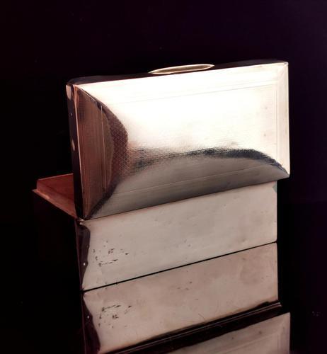 Art Deco Sterling Silver Cigarette Box (1 of 13)