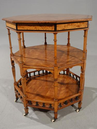 Exceptional Late 19th Century Octagonal Satinwood Table (1 of 7)